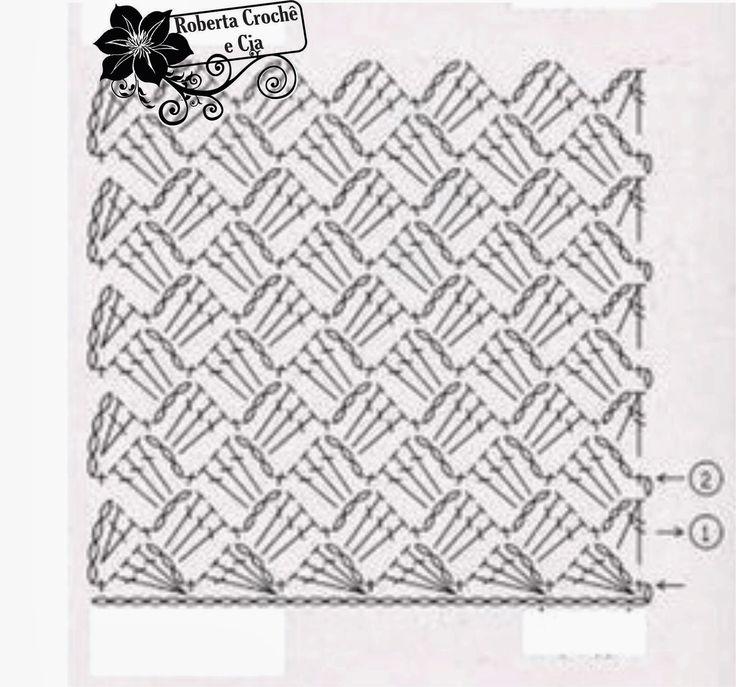 Bolsinha em Crochê com Gráfico