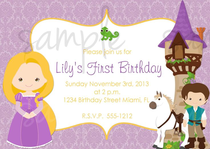 Tangled Princess Rapunzel Birthday Invitation Inspired, tangled birthday invitation, rapunzel birthday invitation disney princess invitation by LoveLifeInvites on Etsy https://www.etsy.com/listing/167942229/tangled-princess-rapunzel-birthday