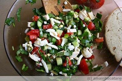 Salata cu telemea de oaie si macris ~ Ama in bucatarie