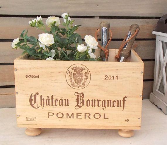 Wine crate storage box  Chateau Bourgneuf  by BaxterandSnowwinebox
