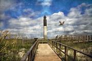 Oak Island Art - Oak Island Lighthouse by East Coast Barrier Islands Betsy A Cutler