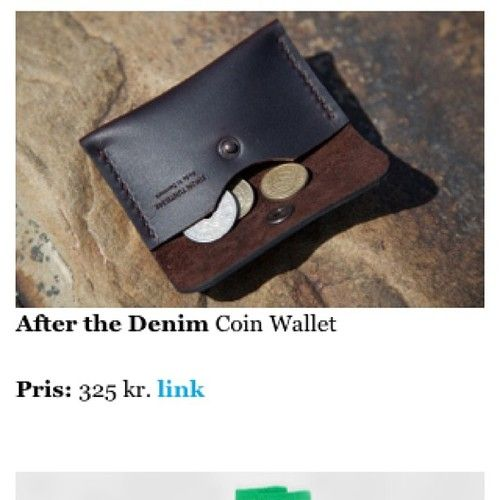 My coin wallet was featured on Euroman's blog. Thanks.