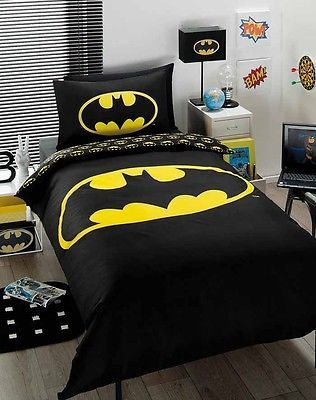 Discontinued Batman Boys Single Bed Doona/Duvet/Quilt Cover Set - Licensed NEW