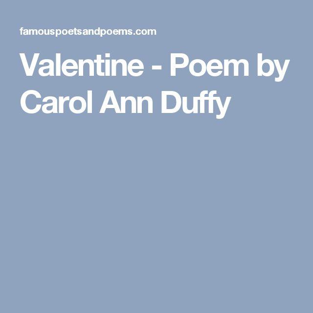 Valentine - Poem by Carol Ann Duffy