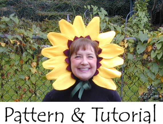 Sunflower Headband Pattern Tutorial - This would work perfectly as a Munchkin costume!