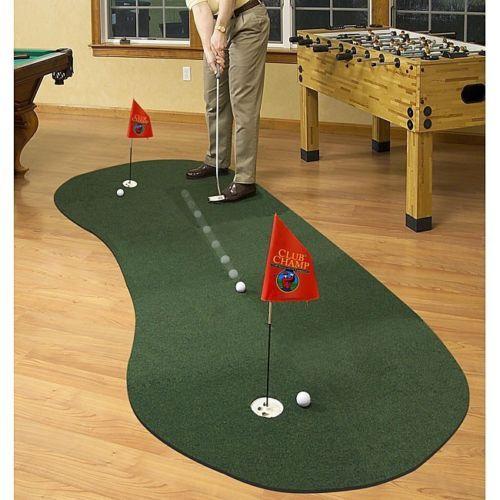 Portable Putting Green Golf Practice Indoor Felt Expandable Mat Foam 10 Panel #ModularPuttingGreen