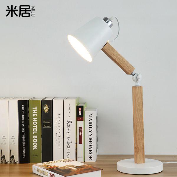 Nordic IKEA гостиной спальня ночники теплая мода творческих глаз светильника чтения из светлого дерева