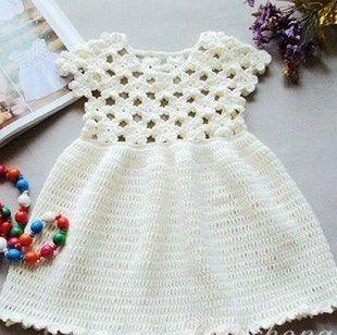 Платье для девочки крючком   NÁVOD