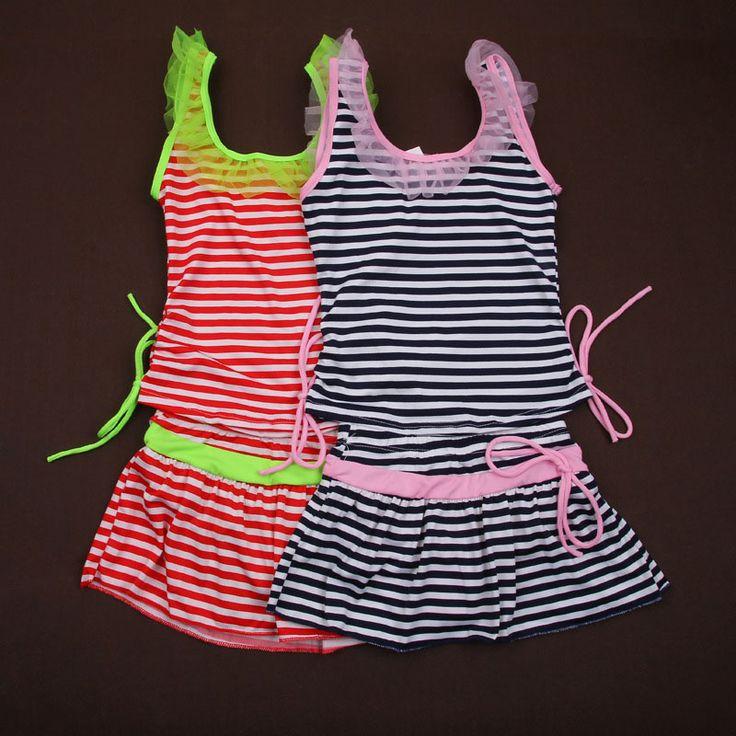 summer style girls bikini set split swimsuit children's swimwear for girls beach bathing suits