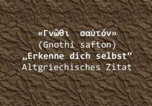 Altgriechisches Zitat