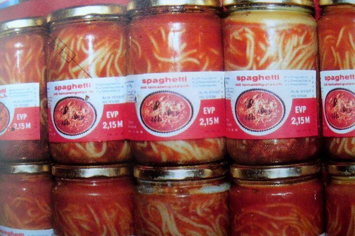 Spaghetti DDR- das gabs Samstag zum Mittag