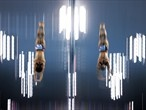 Divers Tom Daley and Peter Waterfield of Great Britain in practice
