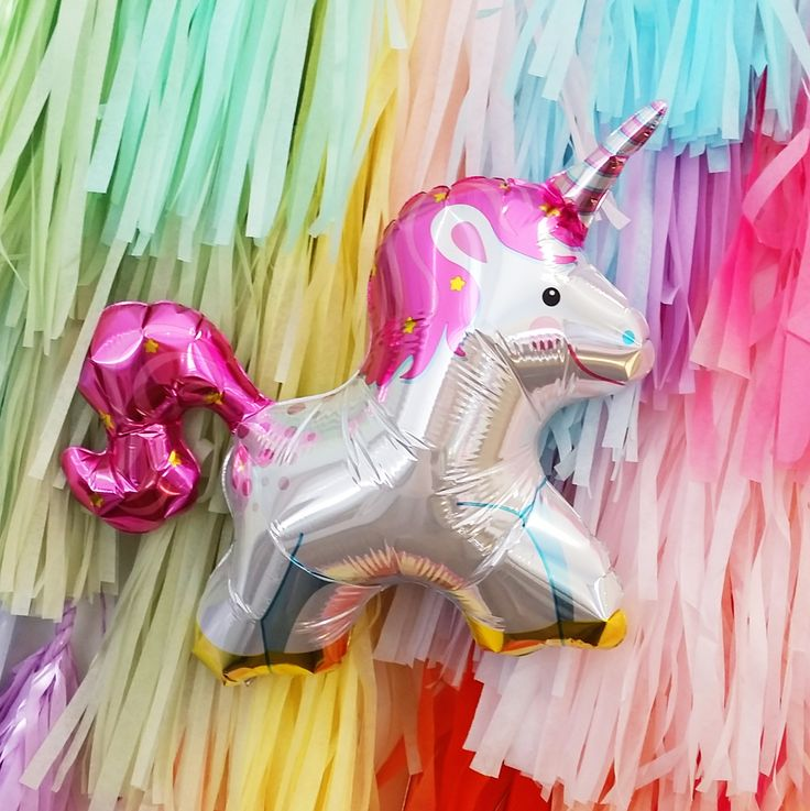 Ballon mylar licorne à retrouver sur www.rosecaramelle.fr  #licorne #unicorn #birthday #anniversaire #fete #party #decoration  #kids #deco #fete #enfants