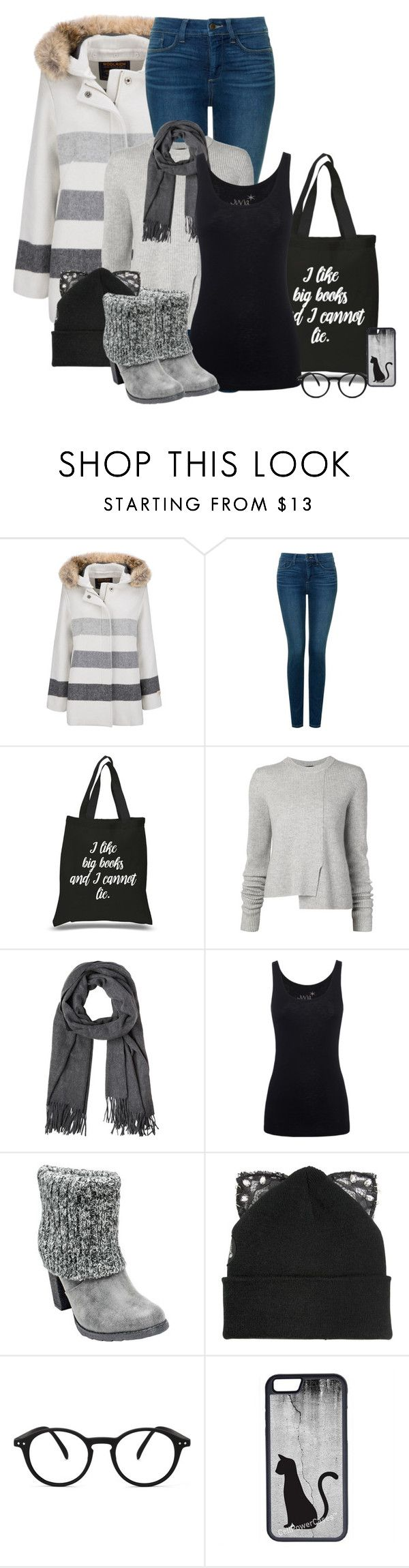 """Black Friday Shopping (OUTFIT ONLY!)"" by melissa-chung-pnklmnade ❤ liked on Polyvore featuring Woolrich, NYDJ, Proenza Schouler, Juvia, Muk Luks, Silver Spoon Attire, See Concept and CellPowerCases"