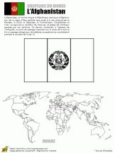 Afganistan Coloriage drapeaux du monde A et B sur Hugolescargot.com