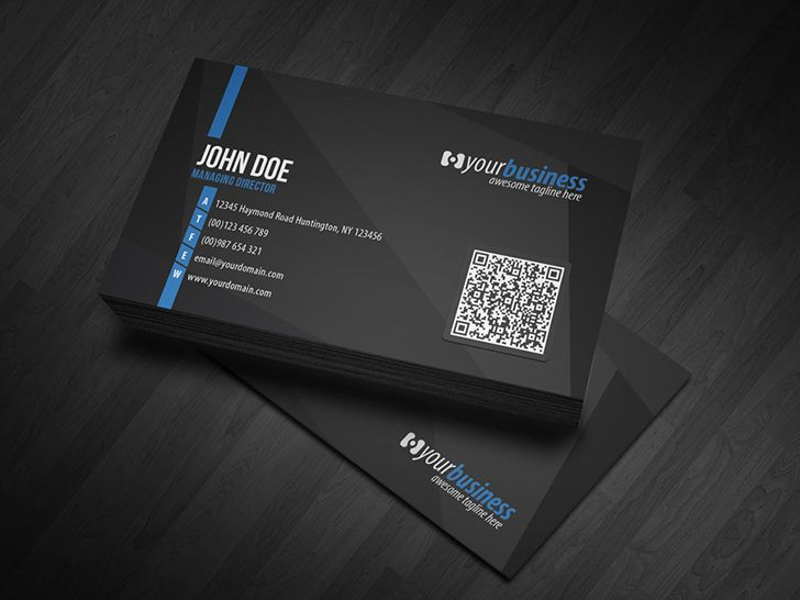 11 best business card images on pinterest business card design premium black corporate business card template with qr code with clean design by glenngoh available reheart Image collections