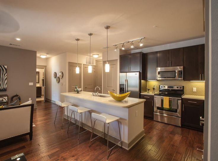 Model Kitchen At #AMLI On Maple, A Luxury Apartment Community In Dallas.