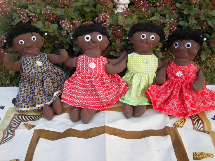 These cubby, cuddly dolls were made for Aids orphans at a home near Empangeni