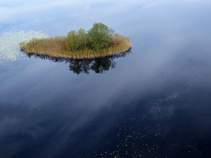 Wyspa na jeziorze Zełwągi