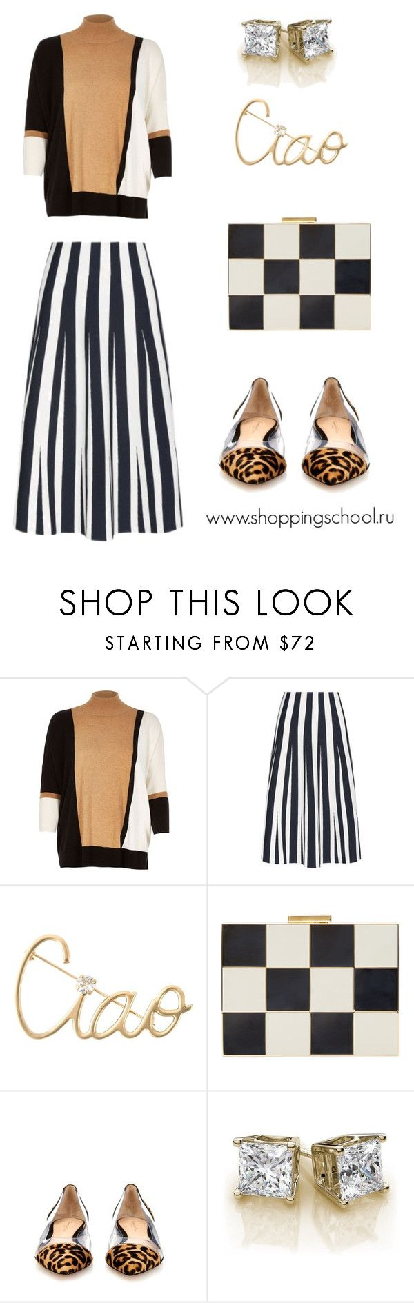 """""""Базовые вещи"""" by shkolashopinga ❤ liked on Polyvore featuring River Island, Alexander Wang, Lanvin, Valentino and Gianvito Rossi"""