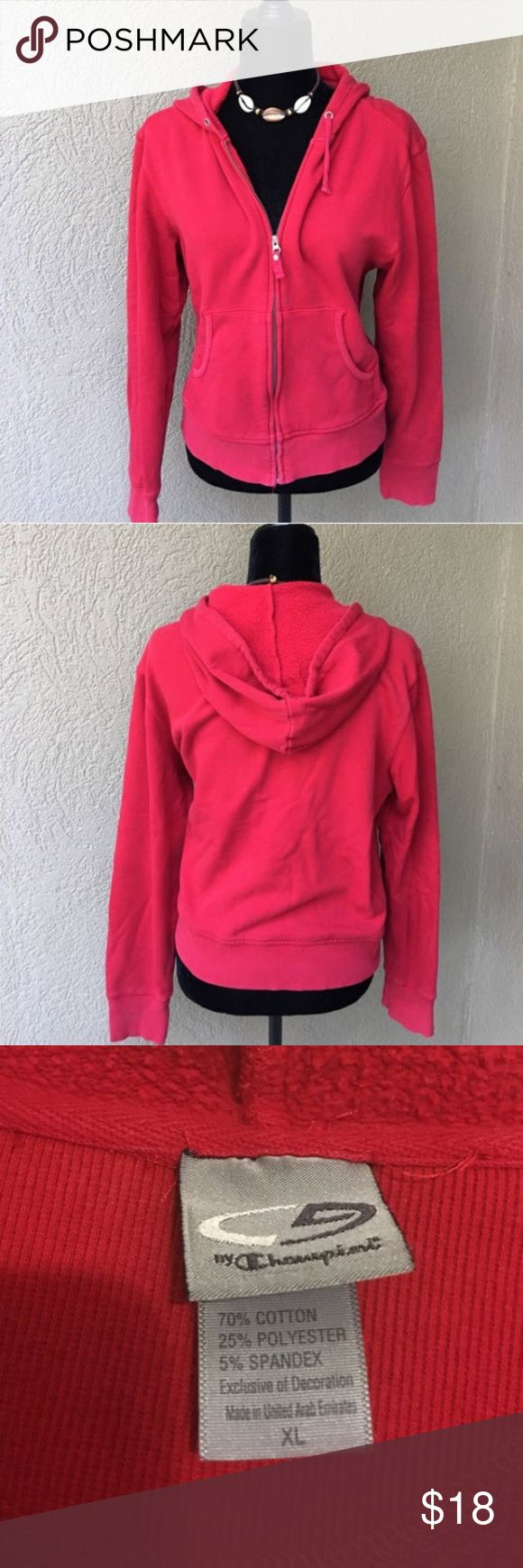 C9 by Champion Hooded sweatshirt jacket C9 by Champion red hooded zipper front sweatshirt jacket with front pockets.   ✅I ship same or next day ✅Bundle for discount C9 by Champion Jackets & Coats