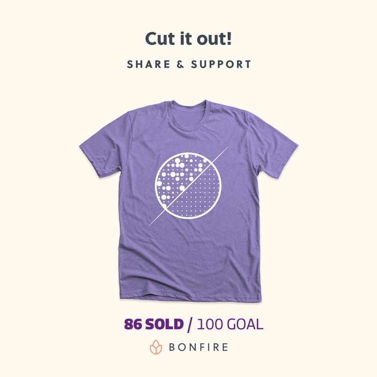 Cut it out! is a campaign & fundraiser launched to spread awareness about epilepsy and surgery for epilepsy.  A t-shirt with no explicit references to the campaign, only a logo. It conveys a profound meaning per se, since it represents a neural network with abnormal activities on the left side, and a normal neural network on the right side, separated by a cut: the surgery. And purple is the official colour of the International Epilepsy Day.  Buy a t-shirt!