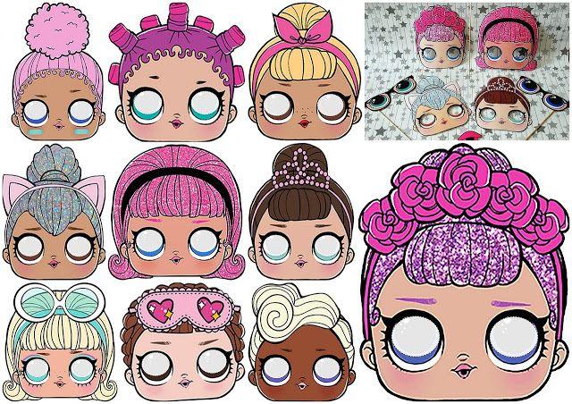 Lol Surprise Free Printable Masks Suprise Birthday Party Birthday Surprise Party Suprise Birthday