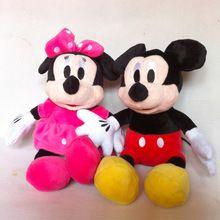 2015 New Hot 30cm 2szt / LOT Urocza Myszka Miki i Minnie zwierzęce Wypchane dziewczynki lalki pluszowe zabawki dla dzieci zabawki na prezenty dla dzieci (Chiny (kontynentalne))