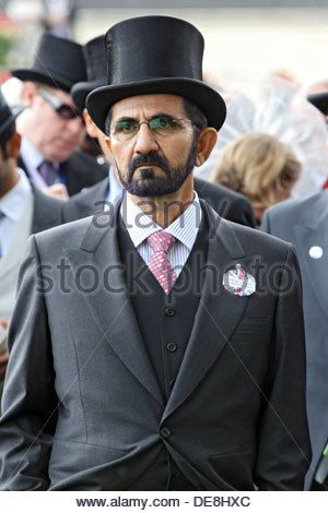 Ascot, United Kingdom, Sheikh Mohammed bin Rashid Al Maktoum, head of Dubai - Stock Photo
