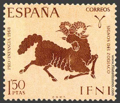 Aries (Sello de Correos España 1968)