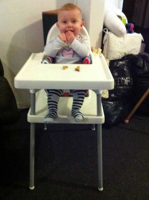 Materials: Antilop highchair, and two Antilop traysDescription: The only thing that's missing on Antilop is some support for the child's feet.  My husband got t