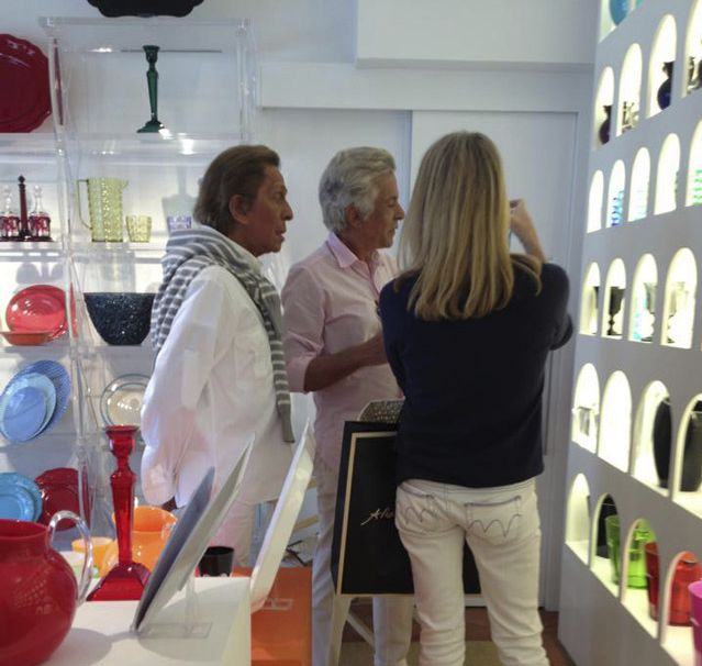 Valentino Giammetti découvre les produits Mario Luca Giusti. http://trend-on-line.com/brand/mario-luca-giusti