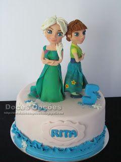 Doces Opções: Bolo de aniversário Festa Frozen - O Reino do Gelo...