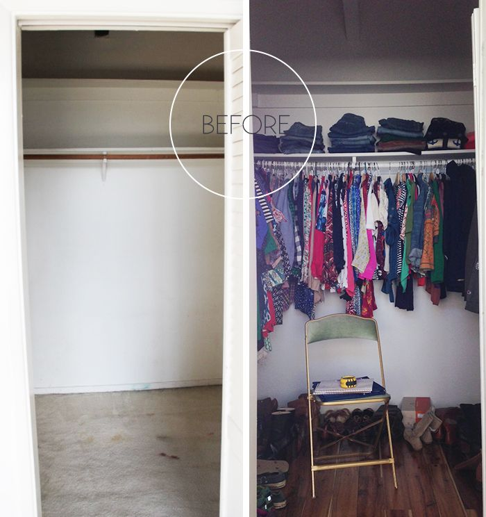 Before and After: My Closet redo | Bedroom | Pinterest