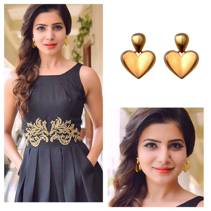 Samantha Prabhu looks gorgeous in our vintage Givenchy heart dangle earrings! Loveee