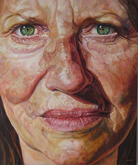 """Eagle Goddess  by Sally Clark - Oil36"""" x 30"""""""
