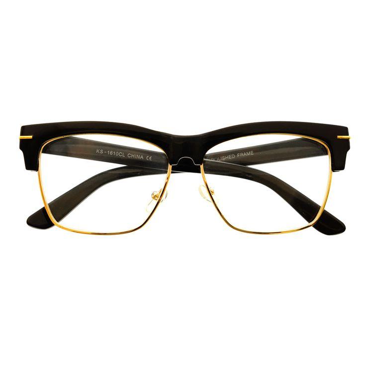 Designer Glasses Half Frame : 1000+ images about Clear Lens Glasses on Pinterest