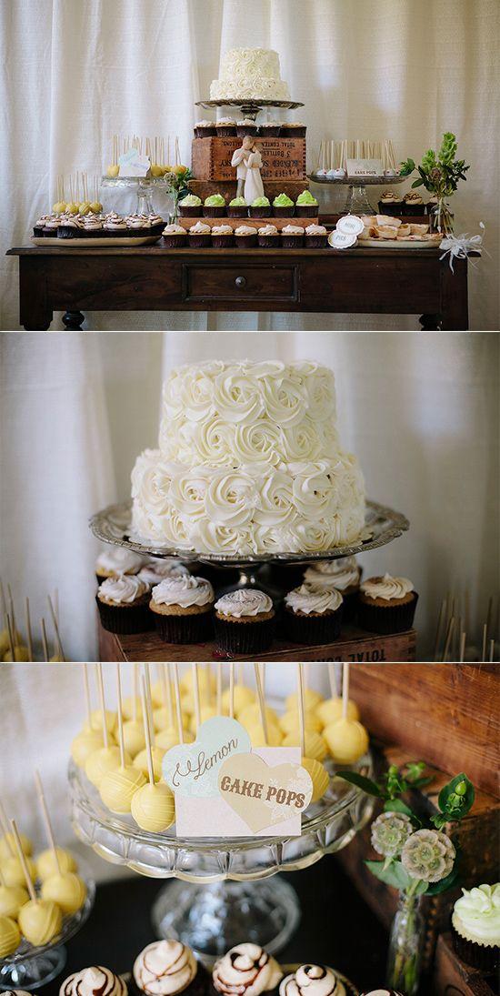 Super cute dessert table ideas from wedding