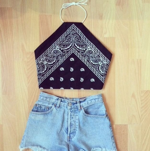 bandana diy crop top (Diy Clothes Dress)