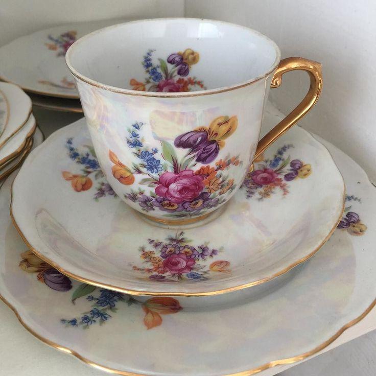 Sedefli çay trio el boyama (3 adet kaldı ) adet fiyatı 70 tl