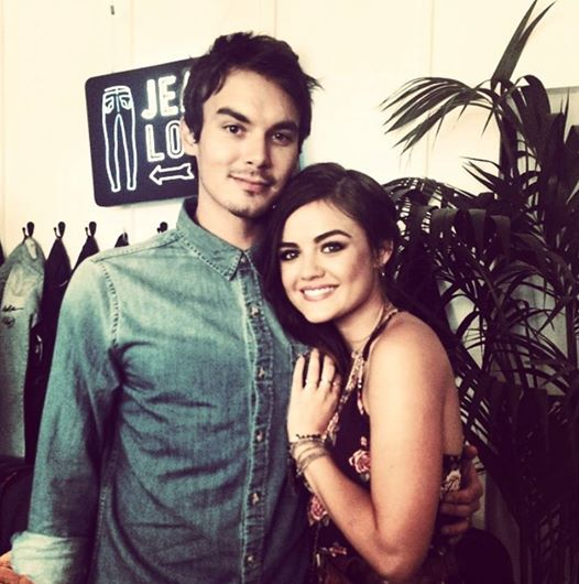 Awww Lucy and Tyler are so cute! #PLL