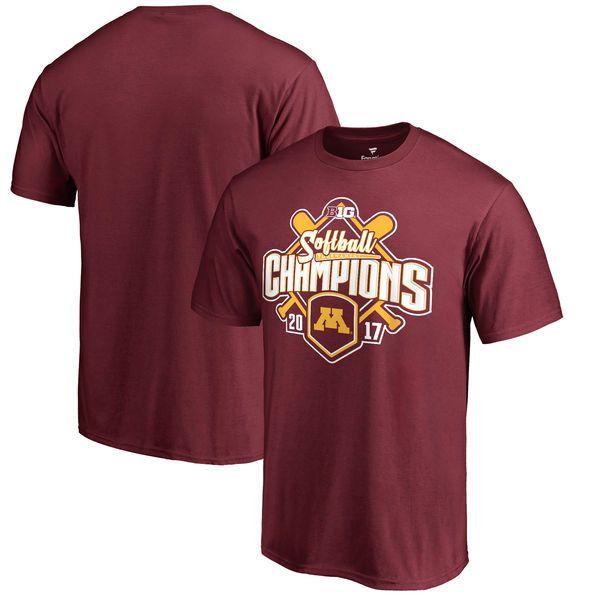 Minnesota Golden Gophers Fanatics Branded 2017 Big Ten Softball Tournament Champions T-Shirt - Maroon - $24.99