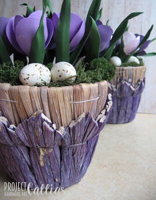 ProjectGallias: #projectgallias Spring flowers, Wiosenne krokusy, dekoracja, Handmade