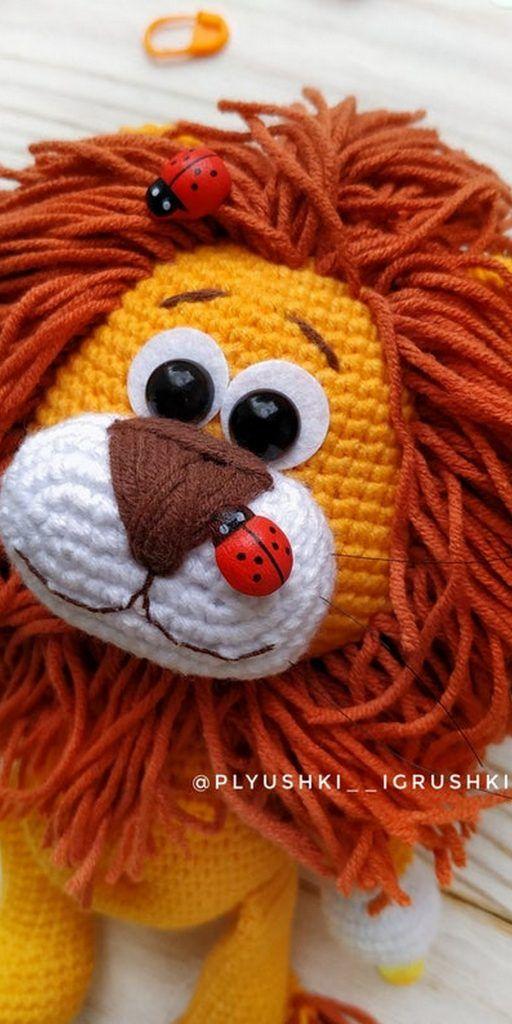 Crochet Lion Amigurumi – Free Pattern | Tiere häkeln anleitung ... | 1024x512