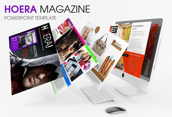 HOERA Magazine - Powerpoint Template by Graphicslide on Creative Market