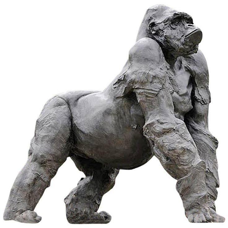 Gorilla Grey Resin Sculpture | From a unique collection of antique and modern sculptures at https://www.1stdibs.com/furniture/decorative-objects/sculptures/