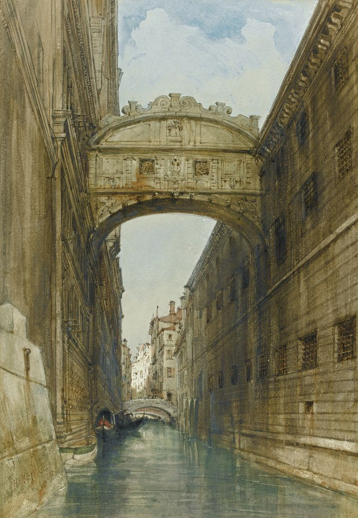 James Holland, O.W.S. | THE BRIDGE OF SIGHS, VENICE | Sotheby's