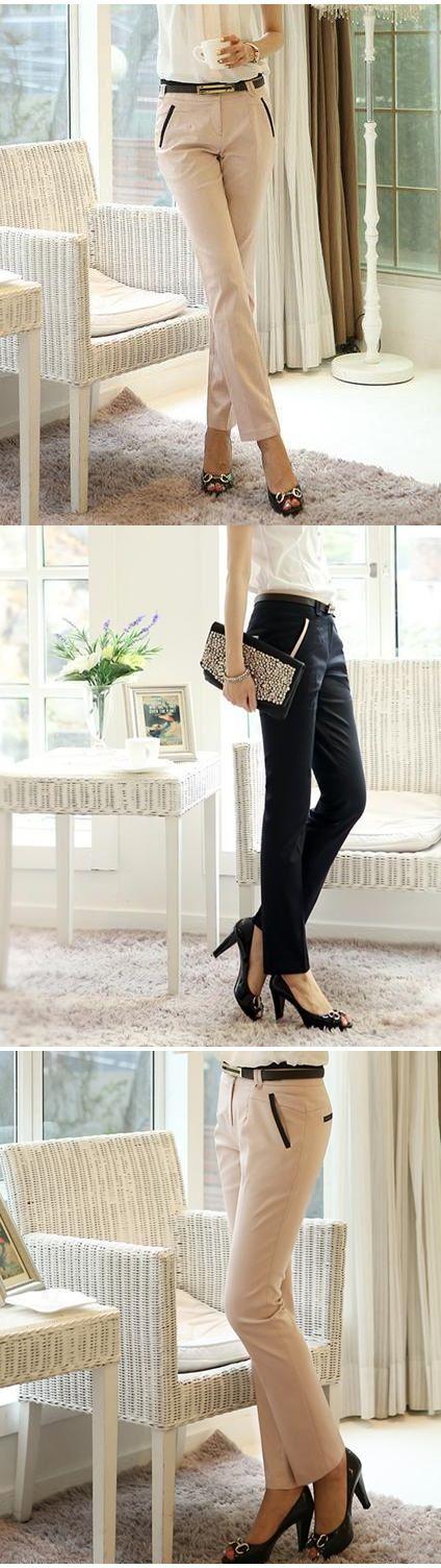 #Pantalones para la #oficina. Te haran lucir una figura más #esbelta. Encuéntralos aquí.