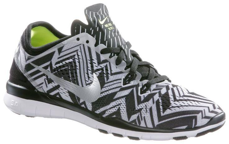 #Nike #Free #5.0 #Train #Fit #5 #Print #Fitnessschuhe #Damen #schwarz/silberfarben