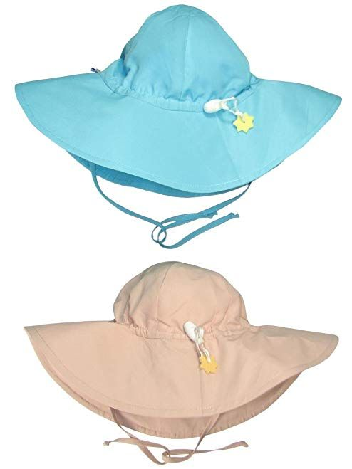 a3a65db0ab9 i play.. 2 Pack UPF 50+ Sun Protection Wide Brim Baby and Toddler Sun Hats  Khaki Review